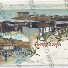 3611 - L i t h o, CONSTANTA - old postcard - used - 1899 - Carte Postala Dobrogea pana la 1904, Circulata, Printata
