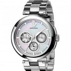Ceas original Emporio Armani AR0734 nou, factura/garantie - Ceas dama Armani, Fashion, Quartz, Inox, Cronograf