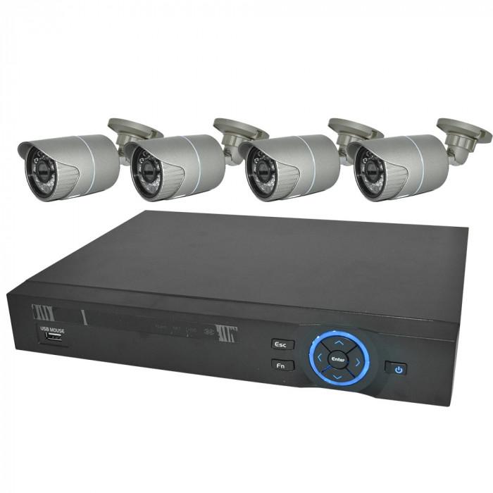 Resigilat : Kit PNI House IPMAX POE Two - NVR IP ONVIF si 4 camere HD cu IP 1080P