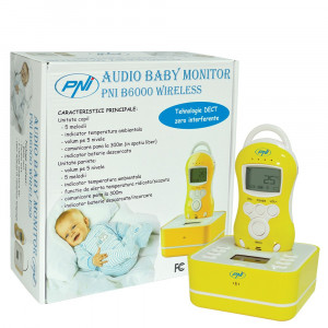 Resigilat : Audio Baby Monitor PNI B6000 wireless audio duplex
