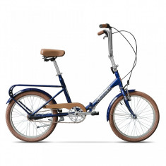 Practic Albastru Calator, pliabilă cu 3 viteze - Bicicleta pliabile