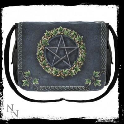 Geantă de umăr Pentagramă cu iederă foto