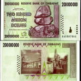 RARR : ZIMBABWE - 200.000.000 DOLARI 2008 - P 81 - UNC - bancnota africa