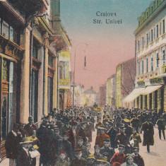 CRAIOVA, STRADA UNIREI, HOTEL GEBLESCU, CIRCULATA 1921 - Carte Postala Oltenia dupa 1918, Printata