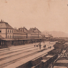 PISKI, SIMERIA GARA CIRCULATA 1915 - Carte Postala Transilvania 1904-1918, Printata