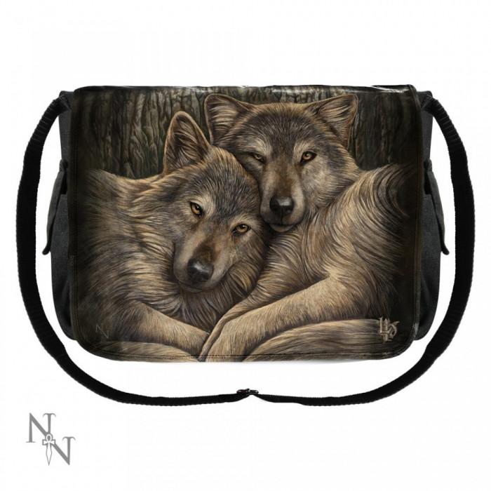 Geanta de umar cu lupi Prieteni loiali foto mare