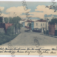 3606 - GALATI, Mihai Bravu street - old postcard - used - 1906, Circulata, Printata