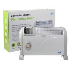 Resigilat : Convector electric de podea PNI Turbo Heat 2000W, 3 trepte de putere,