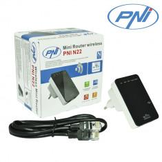 Aproape nou: Mini Router wireless PNI N22 repetor cu amplificator de semnal si acce