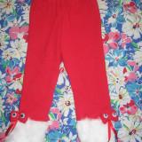 Pantaloni rosii fete, cu blanita alba, NOI, masuri in descriere, 31, 33, 37, Rosu