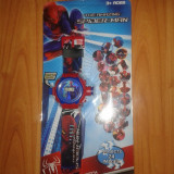 Ceas copii, 2 in 1, si cu proiectie, Spiderman