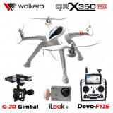 """Drona Walkera Qr X350PRO, Radiocomanda F12E, FPV 5"""", Camera 1080P, Gimbal 3D"""