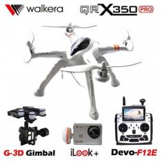 Drona Walkera Qr X350PRO, Radiocomanda F12E, FPV 5