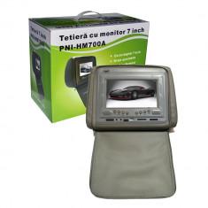 Resigilat : Tetieră 7 inch PNI HM700A-G gri cu fermoar - DVD Player Portabil