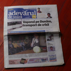 Ziar - Adevarul de seara / Resita  - 12 octombrie 2009 - 16 pag
