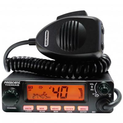 Resigilat : Statie radio CB President Thomas ASC, cu squelch automat cod TXMU093 foto