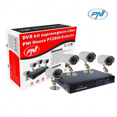 Resigilat : Kit supraveghere video PNI House PTZ800 - DVR si 4 camere exterior 800 - Camera CCTV