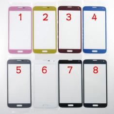 Ecran Samsung Galaxy s5 SM-G900F bleu geam - Geam carcasa