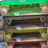 Skateboard transparent cu leduri placa si roti, Copii