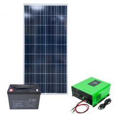Aproape nou: Kit solar fotovoltaic hibrid PNI 1200VA/720W, Invertor 1200VA, panou s