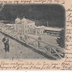 SINAIA GARA CLASICA CIRCULATA 1901 - Carte Postala Muntenia pana la 1904, Printata