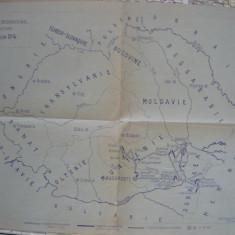 Harta - Romania - Congresul International de Agricultura - 1929