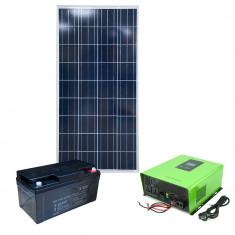 Aproape nou: Kit solar fotovoltaic hibrid PNI 500VA/300W, Invertor 500VA, panou sol
