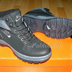 Bocanci Nike Mandara negru - Bocanci barbati Nike, Marime: 36, 37, 39, 40, 41, 44, Culoare: Din imagine, Piele sintetica