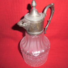 Carafa din metal argintat si cristal 25 cm Nr 8 - Decantor