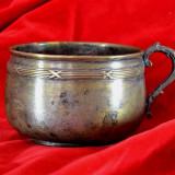 Cana antica din alama argintata pentru colectie / decor #348 - Metal/Fonta, Cupe