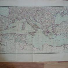 Harta - Marea Mediterana si Europa de Sud - 1943