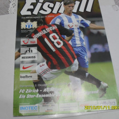 Program FC Zurich - AC Milan - Program meci