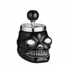 Scrumiera craniu negru