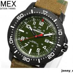 Ceas TIMEX Expedition CAMOUFLAGE indiglo Original 100% NOU - Ceas barbatesc Timex, Casual, Quartz, Material textil, Data, Analog