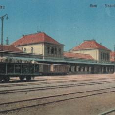 SATU MARE GARA - Carte Postala Maramures dupa 1918, Necirculata, Printata