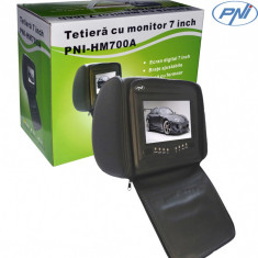 Resigilat : Tetieră 7 inch PNI HM700A-B negru cu fermoar - DVD Player Portabil