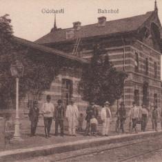 ODOBESTI, GARA, CIRCULATA 1918 CIRCULATIE GERMANA K.U.K FELDPOST ODOBESTI - Carte Postala Moldova dupa 1918, Printata
