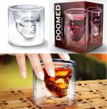 Pahar in forma de craniu, 75 ml, doomed shot pentru bauturi