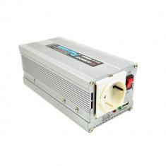 Aproape nou: Invertor tensiune Albrecht 300W 12V/24V cu mufa USB Cod 47874 - Invertor Auto