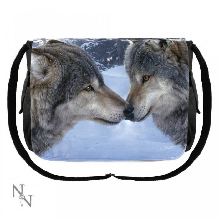 Geantă de umăr cu lupi Prieteni foto mare