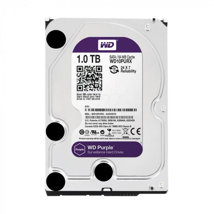Aproape nou: Hard Disk intern Western Digital WD10PURX HDD 1TB Purple CCTV foto mare
