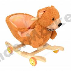 Urs balasoar din plus cu roti - Leagan