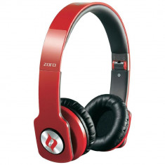 Resigilat : Casti Noontec Zoro HD Red model MF3120R, Casti On Ear, Cu fir, Mufa 3, 5mm, Active Noise Cancelling