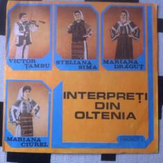 INTERPRETI DIN OLTENIA COMPILATIE DISC VINYL LP Muzica Populara electrecord FOLCLOR, VINIL