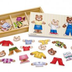 Melissa & Doug - Set de joaca - Imbraca familia de ursuleti - Vehicul