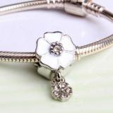 Pandantiv FLOARE charm placat argint pentru bratara pandora talisman