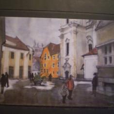 ROM. - CLUJ NAPOCA - PIATA MUZEULUI [ ACUARELA ] - NECIRCULATA . - Carte Postala Transilvania dupa 1918, Fotografie