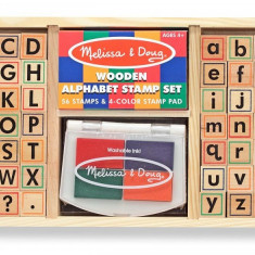 Set de stampile Alfabet Melissa and Doug - Vehicul Melissa & Doug
