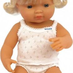 Papusa Baby european fata Miniland 38 cm - Vehicul