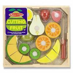 Set fructe lemn pentru taiat - Melissa & Doug - Vehicul